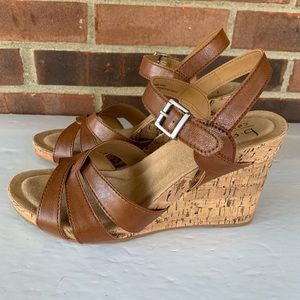 Like new BOC cork wedge sandals